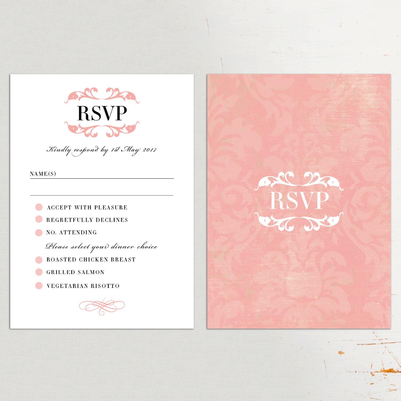 wedding invites sets printed rsvp cards traditional rsvp card set