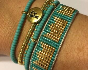 Family bracelet, custom bracelet, family stack bracelet, personalized bracelet, seed bead bracelet, beaded friendship bracelet