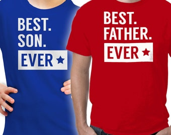 Matching Father and Son Shirt - Sizes YXS to 5XL - Gifts for Dad & Son - Matching T-Shirt Gift for Father and Son - Best Father and Son Ever