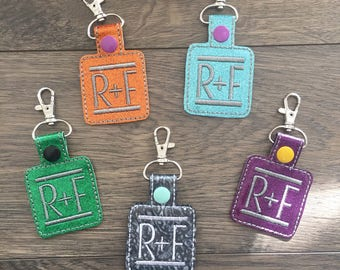 Rodan + Fields Key Chains, Advertise R+F, Rodan and Fields, Consultant Gift, R + F Swag, Preferred Customer Gift, Regimen Colors Key Fobs