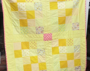 Handmade quilted Patchwork Throw