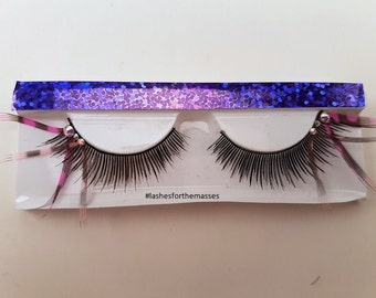 Pink and Pinker Feather Lashes