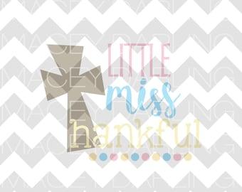 Little Miss Thankful, Thanksgiving SVG, Little Miss SVG, Thanksgiving, Turkey SVG, Gobble Svg, November Svg, Png, Dxf, Thanksgiving Svg File