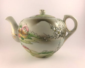 Nippon Tea Pot with Scenic Spring View