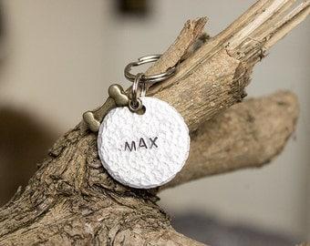 Max- Unique Pet Id Tag - Personalised - Hand stamped Aluminium Pet Tag -  Dog Tag - Cat Tag - Custom Pet Tag
