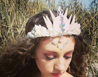 Sale item Seashell mermaid Bridal Crown fit for any bride or mermaid