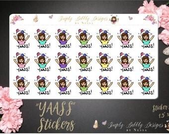 Yaass Happy Girl Stickers