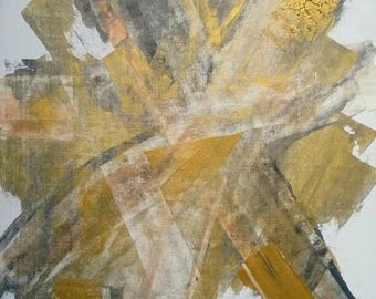 Large Gold Abstract Painting Original Art Metallic 'Lost' Series 16 x 20 Wall Art Gold Abstract Art Textured Wall Painting Gold Copper