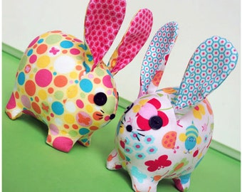 PATTERN Baby Bunnies by Melly and Me, Soft Toy, Easter, Rabbit, Stuffed Toy, Sewing Pattern