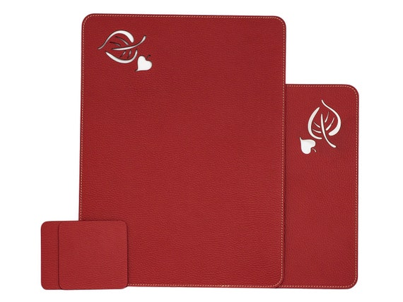Like this item?  sc 1 st  Etsy & Table Placemats Red/ Table Mat Sets / Placemats Set / Recycled