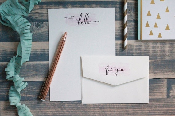 Hello! Cute Note Letter Writing Set | Writing Paper | Stationery Gift Set | Gift For Her | Tween ...