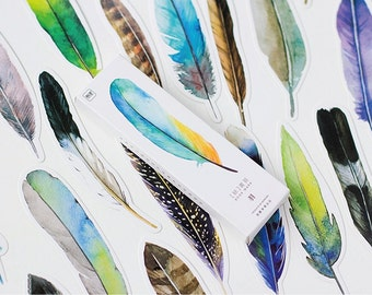 30 Pieces Feather Cut Outs - Bookmarks/Gift Tags/Scrapbooking Supplies