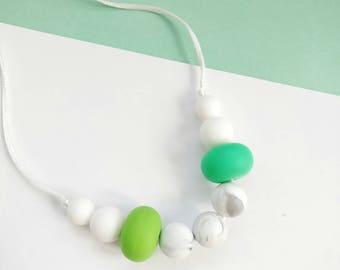 Silicone Baby Teething POP Necklace - Teether - Mom, Modern Nursing Necklace, Chewlery, Stillkette, collier allaitement