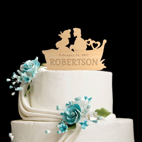 cake topperwooden cake topperlittle mermaid weddinglittle. Black Bedroom Furniture Sets. Home Design Ideas