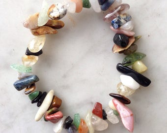 Mixed Crystal Spike Beads