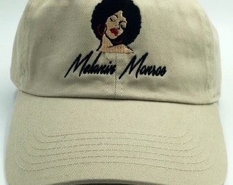 Melanin Monroe Embroidered Dad Hat - Melanin Dad Hat - Embroidered Baseball Cap - Dad Cap - Baseball Hat - Adjustable Baseball Cap