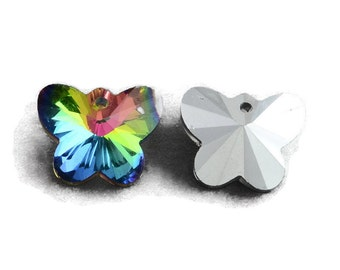 Crystal Butterfly Pendant Charms Rainbow crafts jewellery sewing scrap-booking sun-catcher