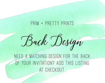 Back Design Add On