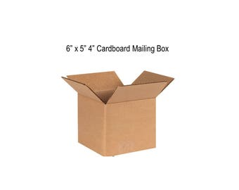 """N=4 6""""x5""""x4"""" Cardboard Mailing Boxes - for Packing, Mailing, Shipping - Corrugated Boxes"""