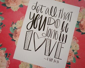 Let all that you do... Cardstock Print!
