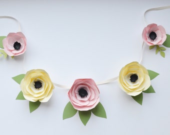 Paper Flower Garland - Custom Colors
