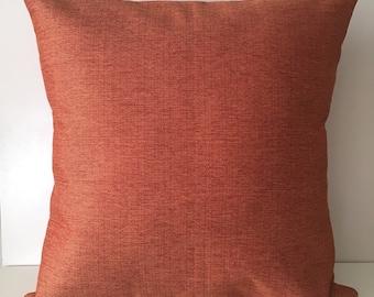 Burnt Orange Pillow Cover