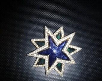 Vintage Two Star Brooch