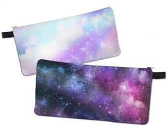 Galaxy Pencil Case Original Print Space Make Up Bag  Universe Pastel Galaxy***MTO***