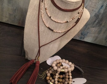 Double strand wrap necklace