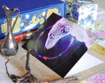 Polar Bear Art Card, Climate Change Art, Spirit Bear Art Card, Bear Greeting Card, Kodiak Bear Art, Polar Bear Illustration, Polar Bear