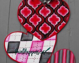 Valentine Heart Valentine Door Wall Hanger Valentine Be Mine Valentine Decor Valentines Day Wreath  Valentine Door Sign Painted