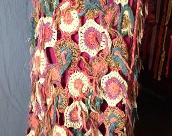 SUPER COOL GYPSY  Crocheted skirt boho hippye bohemian