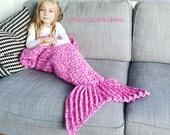 Mermaid blanket pink