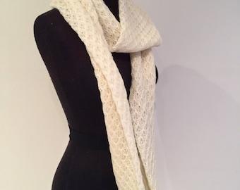 Snowflake infinity scarf 236cm full loop