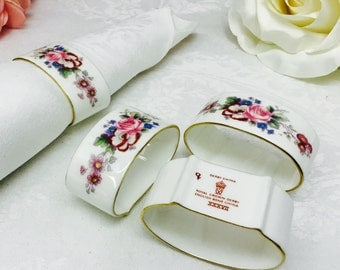Set of 4 Royal Crown Derby napkin rings.
