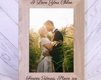 Personalised Engraved Couple Frame, wedding photo frame / engraved photo frame / personalised frame / valentine's day / anniversary gift
