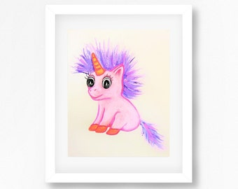 Printable Pink Unicorn Art, Pink Unicorn Nursery Art, Unicorn Kids Art, Unicorn Wall Art, Unicorn Theme, Unicorn Print for Nursery, Playroom