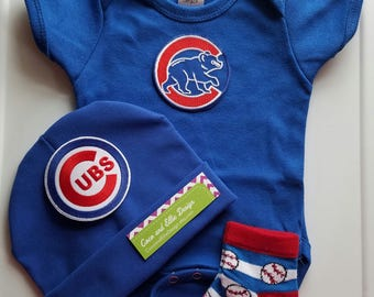 chicago cubs baby outfit-chicago cubs baby-chicago cubs baby take home outfit-cubs baby/newborn chicago cubs/cubs newborn/baby cubs