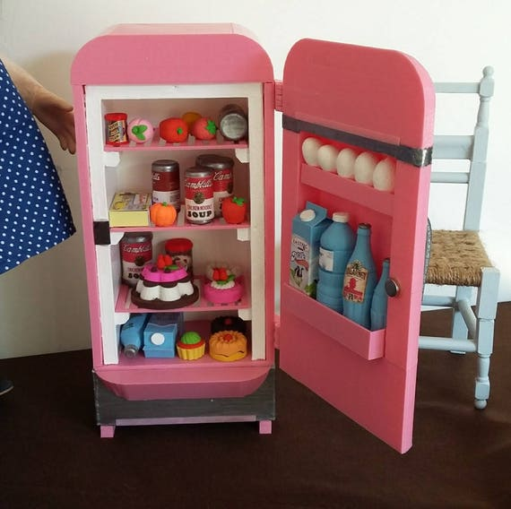 Zisa retro fridge, for 18 inch dolls