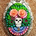 Day of the Dead polymer clay  brooch/pendant