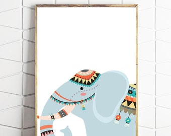 elephant printable art, elephant digital art, elephant download art, elephant decor, elephant wall art, elephant printable decor