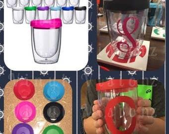 10 oz Tumbler-Wine Tumbler Glass-Personalized Wine Glass-Personalized Kids Glass