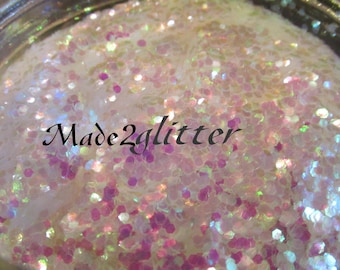 Chunky Hexagon Glitter 0.062 Iridescent Holographic and Matte Glitters