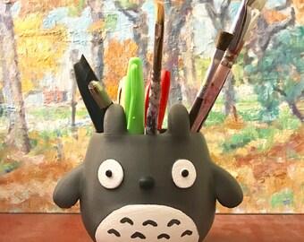 Totoro, Organizer, Pen holder, 4th July, 3D Printed, Garden, Geek, Home Decor, Succulents, Flower Pot, Organizer, Pencil Holder