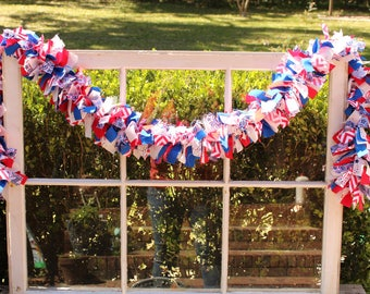 Stars and Stripes 6' Rag Garland