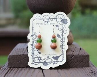 Jade & Goldstone SS Earrings