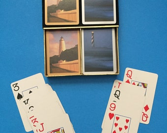 Light House; Congress Double Deck Playing Cards;  Vintage;  Made in Spain