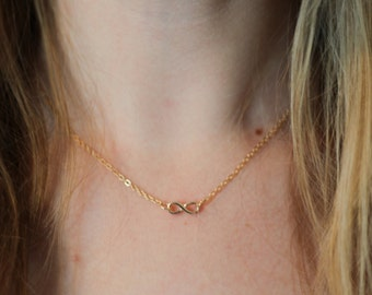 Bridesmaid necklace, infinity necklace, infinity necklace set, gold bridesmaid necklaces