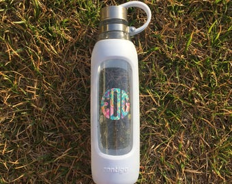Monogrammed Glass Water Bottle