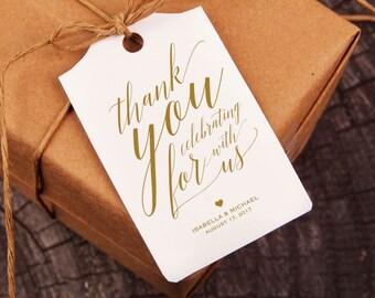 Gold Thank You Tag, Gift Tags, Wedding Thank You Tags, Wedding Favor, Thank You Printable, Favor Tag, DiY Kraft Printable tags, WPC_181